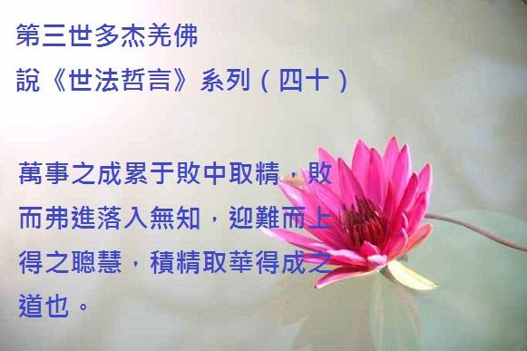 第三世多杰羌佛說《世法哲言》系列(四十)