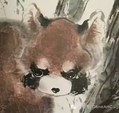 H.H.第三世多杰羌佛 國際藝術大師 中國畫《小熊貓》