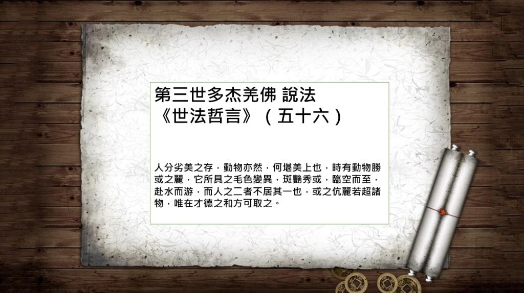 第三世多杰羌佛 說法《世法哲言》(五十六)